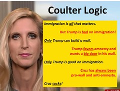 Coulter Logic (BrotherWatch) Tags: propaganda cruz donaldtrump trump gop rino logic anncoulter coulter delusion tedcruz election2016