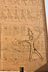 Detail - King Killing Enemy - Temple of Horus - Edfu (BlueVoter - thanks for 1.3M views) Tags: temple ancient egypt horus egipto archeology edfu aegypten