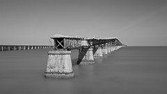 Bahia Honda Rail Bridge - Spanish Harbor Key side II (benmfulton) Tags: longexposure bridge blackandwhite bw usa water america blackwhite nikon florida atlanticocean floridakeys d800 ndfilter superlongexposure daytimelongexposure oldbahiahondabridge bahiahondakey nikkor2470f28 nikond800 bahiahondarailbridge spanishharborkey formatthitech 16stopndfilter