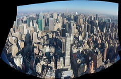 Midtown from the Empire State (ChristinaGXL) Tags: park new york city nyc panorama building square state central empire times chrysler rockefeller avenue 432