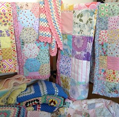 Quilts and blankets (patchwork and lace) Tags: patchworkandlace handmade patchwork cathkidston shabbychic