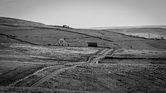 Newbiggin . (wayman2011) Tags: uk fells farms roads dales pennines lightroom countydurham teesdale newbiggin bwlandscapes canon50d wayman2011