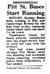The Pitt Street 'massacre' ... (john cowper) Tags: sydney newsouthwales trams pittstreet nationallibraryofaustralia canberratimes pressclipping
