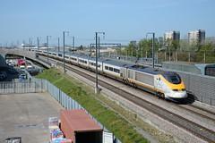 3001 Rainham 20/04/2016 (Brad Joyce 37) Tags: sunshine train eurostar rainham hs1 9001 9002 9l36