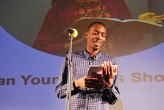 Leke Oso Alabi, Barbican Young Poets showcase 2016 (aarnlee) Tags: poetry performingarts barbican spokenword