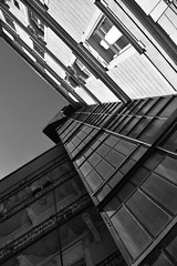 building with elevator (blaisedeux) Tags: blackandwhite bw building lines contrast nikon elevator inside budapest100