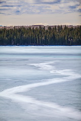 Crack! (stevenbulman44) Tags: sky calgary ice canon spring reservoir crack alberta polarizer lseries