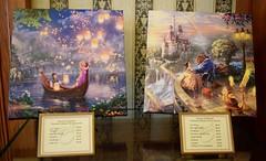 Disneyland Visit - 2016-04-24 - Main Street - Disneyana - Tangled and Beauty and the Beast by Thomas Kinkade Galleries (drj1828) Tags: us artwork disneyland visit anaheim rapunzel dlr 2016