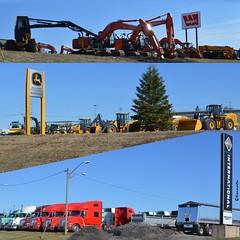 heavy machinery (Kennuth) Tags: canada international newbrunswick moncton trucks heavyequipment hitachi johndeere wajax unlimitedphotos
