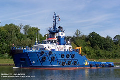 FAIRPLAY-33 (9476006) (007-06.08.2015) (HWDKI) Tags: ship vessel tug schiff kiel nordostseekanal imo nok landwehr schlepper kielcanal delfs fairplay33 hanswilhelmdelfs 9476006