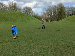 Fintan and Michael at Roman Amphitheatre, Easter Sunday in Cirencester - March 2016 (Pub Car Park Ninja) Tags: uk england easter march cotswolds gloucestershire bullring cirencester romanamphitheatre 2016 fintan