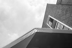 DSC_0061 (Florian Rathcke) Tags: sky blackandwhite bw cloud sun building monochrome architecture harbor harbour geometry hamburg hafen altona altonaerkaispeicher
