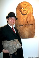 Dr. Takeshi Yamada and Seara (Coney Island Sea Rabbit) at the Chelsea art gallery district in Manhattan, New York on May 12, 2015.  Egyptian art. 20150512 012=C (searabbits23) Tags: ny newyork sexy celebrity rabbit art hat fashion animal brooklyn asian coneyisland japanese star tv google chelsea king artist gallery dragon god manhattan famous gothic goth uma ufo pop taxidermy vogue cnn tuxedo bikini tophat unitednations playboy entertainer oddities genius mermaid amc mardigras salvadordali performer unicorn billclinton seamonster billgates aol vangogh curiosities sideshow jeffkoons globalwarming mart magician takashimurakami pablopicasso steampunk damienhirst cryptozoology freakshow seara immortalized takeshiyamada roguetaxidermy searabbit barrackobama ladygaga climategate  manwithrabbit