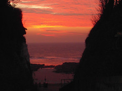 Path to a new day (ray 96 blade (retired)) Tags: sunrise skies glow path steps broadstairs earlymorningwalk stonebay cliffcutaway