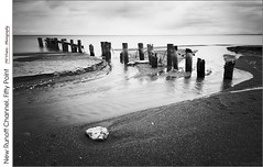 New Runoff Channel, Fifty Point (jwvraets) Tags: longexposure blackandwhite bw beach monochrome spring nikon hamilton gimp lakeontario opensource winona groyne channel grimsby runoff nikkor1224mm d7100 rawtherapee fiftypoint 10stopnd