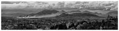 Stadtlandschaft (tsobanski19) Tags: city bw panorama white black spain nikon wolken berge stadt granada sw nikkor altstadt andalusien weiss schwarz spanien burg d800 nsg