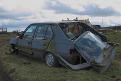 DSC_9774 (srblythe) Tags: uk classic cars ford abandoned graveyard car austin volkswagen scotland volvo rust fiat decay north rusty british scrapyard hyundai leyland vauxhall volvograveyard