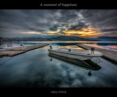A moment of happiness... (Nikos O'Nick) Tags: nikos kotanidis onick hdr d810 nikkor manfrotto 055xprob 498rc2 tripod photomatix nίκοσ νικόλαοσ κοτανίδησ ελλάδα καστοριά δυτική μακεδονία hellas greece macedonia lake water sunrise sun clouds reflections boats city town sky ήλιοσ σύννεφα ανατολή βάρκεσ λίμνη νερό πλαίσιο moment happiness 1424mm macedoniagreece macedonian makedoniatimeless μακεδονια nikon wow