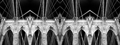brooklyn bridge (iamJoliePhotography) Tags: new york nyc blackandwhite abstract geometric lines mirror pattern brooklynbridge trippy sureal iamjoliephotography jolieclifford