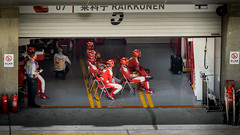 watching on - Ferrari team - China GP 2016 (Rob-Shanghai) Tags: china pits team shanghai watching f1 ferrari tension formula1 gp 2016