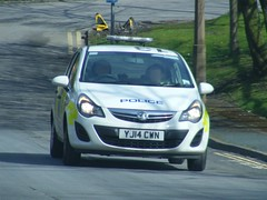 4155 - WYP - YJ14 CWN - 003 (2) (Call the Cops 999) Tags: uk england west car britain yorkshire united great north police kingdom vehicles 101 gb vehicle service halifax emergency 112 services vauxhall corsa 999 cwn wyp yj14