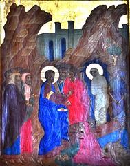 Raising of Lazarus Icon (bobosh_t) Tags: icons orthodox iconography