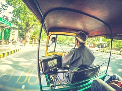 Best way to travel in India (Man Made Machines) Tags: life street city travel summer sun india love photography photo nikon colorful flickr delhi capital wide photographers fisheye heat vehicle traveling gopro photographyislife