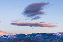 Witches Hat in the Sky! (waterrocksnow) Tags: sunset mountains hat clouds wasatch witch canyon parleys