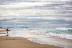 Surfer's Paradise (satochappy) Tags: mist fog clouds waves cityscape cloudy surfer foggy wave australia qld queensland surfersparadise goldcoast