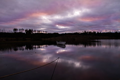 Loch Rusky (Alec-Gibson) Tags: sky water sunrise reflections scotland boat lochrusky