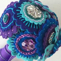 Felt Flower Button Bouquet (Beyond Sweet) Tags: flower handmade felt bouquet embroidered butotn