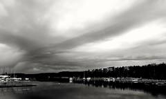 Evening sky (lea3001) Tags: sky blackwhite sweden gustavsberg fotosondag iskyn fs160424