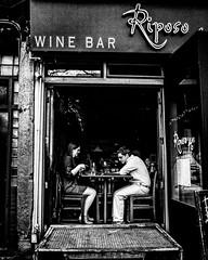 Vino Break. (pmpiasecki) Tags: street nyc newyorkcity blackandwhite streetphotography ricoh ricohgr