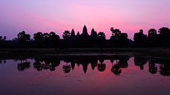 Angkor Wat at Sunrise (Saleha Ullah) Tags: reflection sunrise temple cambodia angkorwat siemreap