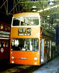 Slide 055-60 (Steve Guess) Tags: uk bridge england london station transport gb southwark lt daimler fleetline dms