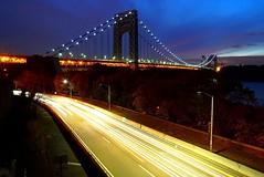 Light Trails 4 (sinbadcc1) Tags: nyc night lighttrails georgewashingtonbridge