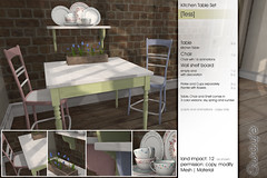 Sway's [Tess] Kitchen Table Set | Uber (Sway Dench / Sway's) Tags: kitchen table spring chair furniture country uber shaby sways