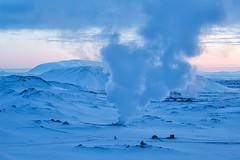 Feeling blue (silentandy) Tags: volcano is iceland smoke steam geyser northeast volcanic