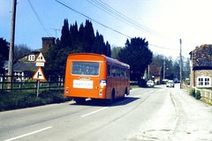 Slide 056-91 (Steve Guess) Tags: uk red england bus bristol hampshire gb lh basingstoke ecw alresford hants candover hantsdorset venturebus
