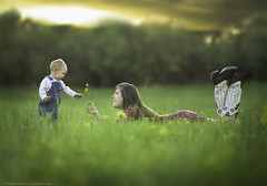 Harmony (Phillip Haumesser Photography) Tags: boy summer portrait baby flower cute love girl beautiful togetherness kid spring pretty child friendship young mother happiness son together dop