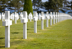American Cemetery & Memorial, Colleville-sur-Mer, Normandie, France (Thierry Hoppe) Tags: shadow france cemetery memorial cross lawn crosses row rows normandie normandy endless collevillesurmer americancemeterymemorial