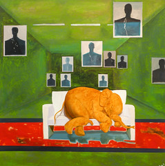 Schlfchen am Schiestand (Nap on the shooting range), 2004 (CORMA) Tags: brussels art europe belgique bruxelles exhibition exposition artcontemporain 2016 tourtaxis wernerbttner