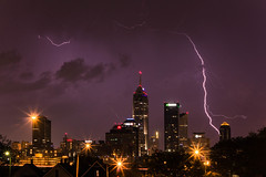 Current Status: Tornado (cara zimmerman) Tags: city storm skyline night indianapolis lightning highlandpark