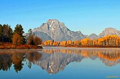 Mount Moran , Grand Teton National Park (Wonder Woman !) Tags: autumn usa reflection fall nationalpark snakeriver aspens wyoming mountmoran grandteton