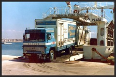Ferry disembarkation (SemmyTrailer) Tags: ferry kent ring rochester removals scania lb80 ake675k