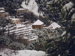 My snowy little village (Ramy.) Tags: lebanon house snow four cuatro lumix casa mediterranean mediterraneo village nieve small panasonic mount micro neige monte maison toit mont liban thirds lbano tercios mirorless lumixg45200mmf456 kfertay dmcgx7