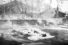 Icy river (Cattail_) Tags: snow ice monochrome river helsinki vanhankaupunginlahti dam vanhankaupunginkoski visithelsinki
