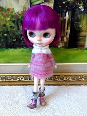 Blythe turtle neck knitting dress