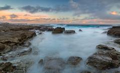 Fourteen Merged from Norah Head (Orange Orb Photography) Tags: ocean longexposure sunset seascape water clouds rocks waves australia centralcoast norahhead