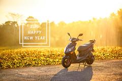 2016 Happy New Year! (Moson Kuo) Tags: field sunshine bike sunrise landscape nikon scenery bokeh farm sigma motorbike moto  hdr  happynewyear  sym   2016  jetpower  85mmf14       d800e
